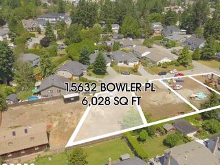 Photo 1: 15632 BOWLER Place in Surrey: King George Corridor Land for sale (South Surrey White Rock)  : MLS®# R2384973