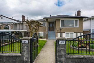 Photo 1: 3436 TANNER STREET in Vancouver: Collingwood VE House for sale (Vancouver East)  : MLS®# R2226818