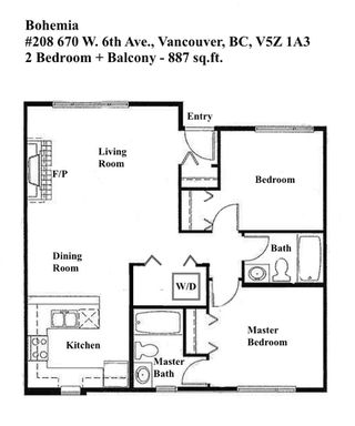 "Photo 18: 208 670 W 6TH Avenue in Vancouver: Fairview VW Townhouse for sale in ""Bohemia"" (Vancouver West)  : MLS®# R2379854"