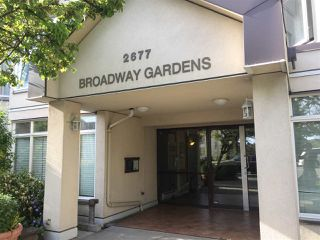 "Photo 1: 107 2677 E BROADWAY in Vancouver: Renfrew VE Condo for sale in ""BROADWAY GARDENS"" (Vancouver East)  : MLS®# R2367409"
