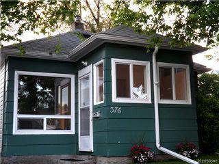 Photo 1: 376 King Edward Street in Winnipeg: St James Residential for sale (5E)  : MLS®# 1623626