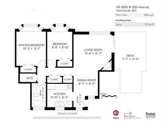 Photo 20: 9 1606 W 10TH Avenue in Vancouver: Fairview VW Condo for sale (Vancouver West)  : MLS®# R2224878