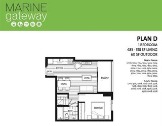 """Photo 13: 2704 488 SW MARINE Drive in Vancouver: Marpole Condo for sale in """"MARINE GATEWAY"""" (Vancouver West)  : MLS®# R2211706"""