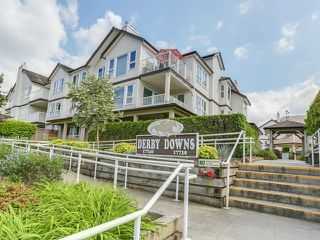 """Photo 1: 203 17740 58A Avenue in Surrey: Cloverdale BC Condo for sale in """"DERBY DOWNS"""" (Cloverdale)  : MLS®# F1442364"""