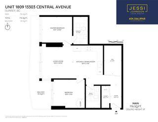 """Photo 2: 1809 13303 CENTRAL Avenue in Surrey: Whalley Condo for sale in """"WAVE"""" (North Surrey)  : MLS®# R2328077"""