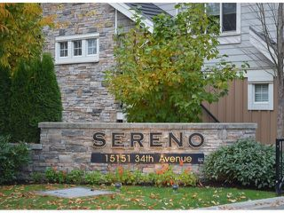 "Photo 2: 58 15151 34TH Avenue in Surrey: Morgan Creek Townhouse for sale in ""SERENO"" (South Surrey White Rock)  : MLS®# F1402501"