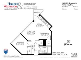 """Photo 13: # 510 1372 SEYMOUR ST in Vancouver: Downtown VW Condo for sale in """"The Mark"""" (Vancouver West)  : MLS®# V1038362"""