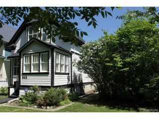 Photo 1: 645 Ashburn Street in WINNIPEG: West End / Wolseley Residential for sale (West Winnipeg)  : MLS®# 1412806