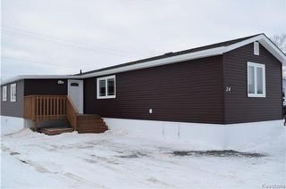 Photo 1: 24 DELTA Crescent in Birds Hill: Pineridge Trailer Park Residential for sale (R02)  : MLS®# 1801484