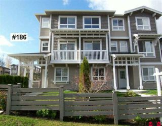 Photo 1: 186 2729 158 Street in Surrey: Grandview Surrey Townhouse for sale (South Surrey White Rock)  : MLS®# F2924347