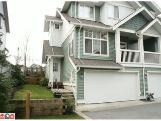 "Photo 1: 25 6785  193RD ST in Surrey: Clayton Townhouse for sale in ""Madrona"" (Cloverdale)  : MLS®# F1101562"