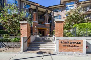 "Photo 2: 105 600 KLAHANIE Drive in Port Moody: Port Moody Centre Condo for sale in ""BOARDWALK"" : MLS®# R2111102"