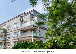 "Photo 1: 413 14377 103 Avenue in Surrey: Whalley Condo for sale in ""Claridge Court"" (North Surrey)  : MLS®# R2189237"