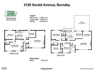 Photo 20: 2130 GERALD Avenue in Burnaby: Montecito House for sale (Burnaby North)  : MLS®# V1127017