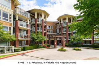 "Photo 1: 406 14 E ROYAL Avenue in New Westminster: Fraserview NW Condo for sale in ""Victoria Hill"" : MLS®# R2092920"