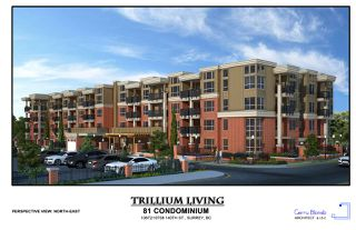 "Photo 1: 409 10688 140 Street in Surrey: Whalley Condo for sale in ""TRILLIUM LIVING"" (North Surrey)  : MLS®# R2346783"