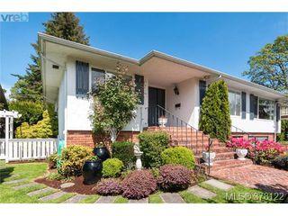 Photo 1: 4048 Magdelin Street in VICTORIA: SE Lambrick Park Strata Duplex Unit for sale (Saanich East)  : MLS®# 378122