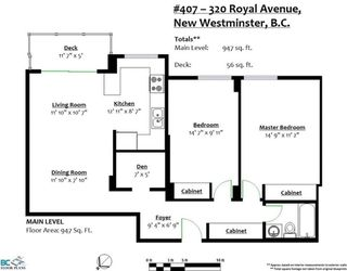 Photo 4: 407 320 ROYAL Avenue in New Westminster: Downtown NW Condo for sale : MLS®# R2273759