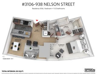 """Photo 20: 3106 938 NELSON Street in Vancouver: Downtown VW Condo for sale in """"ONE WALL CENTRE"""" (Vancouver West)  : MLS®# R2313633"""