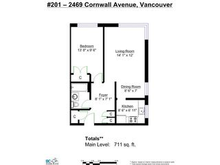 "Photo 12: 201 2469 CORNWALL Street in Vancouver: Kitsilano Condo for sale in ""DORSET HOUSE"" (Vancouver West)  : MLS®# V1100362"