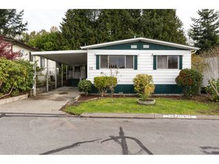 "Photo 1: 15 1640 162 Street in Surrey: King George Corridor Manufactured Home for sale in ""CHERRY BROOK PARK"" (South Surrey White Rock)  : MLS®# R2145736"