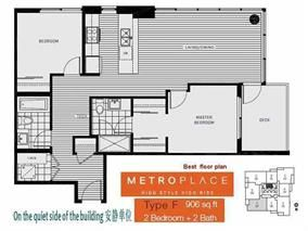 """Photo 2: 1307 6461 TELFORD Avenue in Burnaby: Metrotown Condo for sale in """"METROPLACE"""" (Burnaby South)  : MLS®# R2205017"""