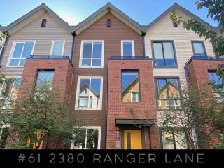 "Main Photo: 61 2380 RANGER Lane in Port Coquitlam: Riverwood Townhouse for sale in ""Fremont Indigo"" : MLS®# R2498749"