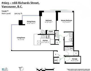 """Photo 15: 1603 1188 RICHARDS Street in Vancouver: Yaletown Condo for sale in """"PARK PLAZA"""" (Vancouver West)  : MLS®# R2240525"""