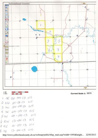 Photo 4: NE 13-54 Range Road 130: Niton Junction Rural Land for sale (Edson)  : MLS®# 32591
