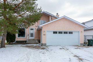 Photo 1: 53 GLENWOOD Crescent: Stony Plain House for sale : MLS®# E4179188