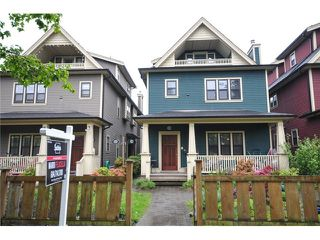 Photo 1: 1218 16th Avenue in Vancouver: House 1/2 Duplex for sale : MLS®# V1069829