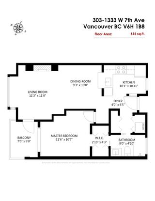 "Photo 20: 303 1333 W 7TH Avenue in Vancouver: Fairview VW Condo for sale in ""Windgate Encore"" (Vancouver West)  : MLS®# R2453610"
