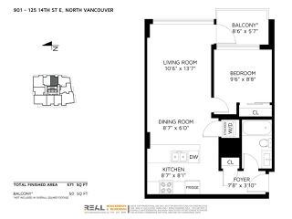 Photo 20: 901 125 E 14TH STREET in North Vancouver: Central Lonsdale Condo for sale : MLS®# R2330786