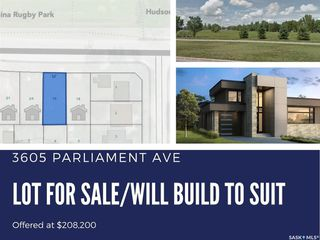 Main Photo: 3605 Parliament Avenue in Regina: Parliament Place Lot/Land for sale : MLS®# SK823949
