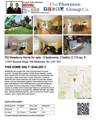 Photo 24: 11707 Bonson Road in Pitt Meadows: House for sale : MLS®# V1122891 V1100041