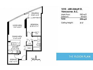 Photo 9: 1210 688 Abbott Street in : Downtown Condo for sale (Vancouver West)  : MLS®# V1137293