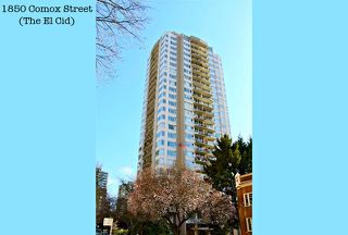 Photo 1: 2103 1850 COMOX STREET in Vancouver: West End VW Condo for sale (Vancouver West)  : MLS®# R2104794