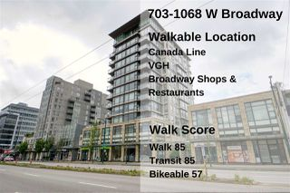 "Photo 23: 703 1068 W BROADWAY in Vancouver: Fairview VW Condo for sale in ""THE ZONE"" (Vancouver West)  : MLS®# R2465668"
