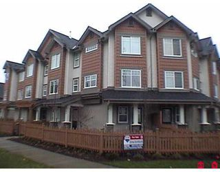 """Photo 1: 8717 159TH Street in Surrey: Fleetwood Tynehead Townhouse for sale in """"Springfield Gardens"""" : MLS®# F2623924"""