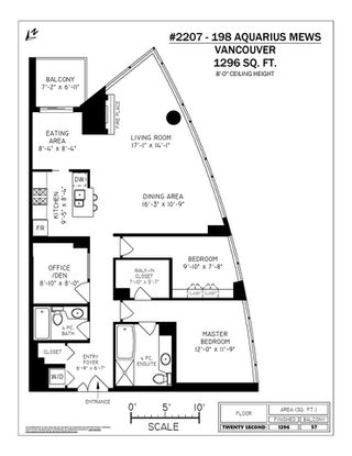 Photo 15: 2207 198 AQUARIUS MEWS in Vancouver: Yaletown Condo for sale (Vancouver West)  : MLS®# R2341515