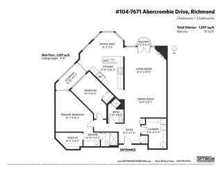 """Photo 26: 104 7671 ABERCROMBIE Drive in Richmond: Brighouse South Condo for sale in """"BENTLEY WYND"""" : MLS®# R2516289"""