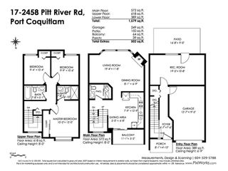 Photo 20: 17 2458 PITT RIVER Road in Port Coquitlam: Mary Hill Townhouse for sale : MLS®# R2445446