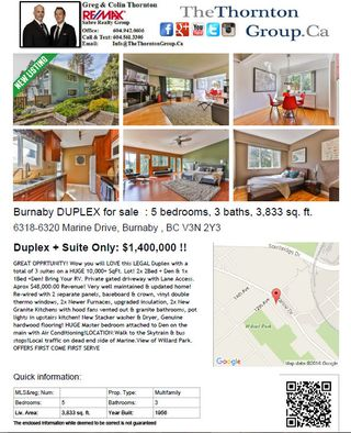 Photo 39: 6318-6320 Marine Drive in Burnaby: Big Bend Multifamily for sale (Burnaby South)