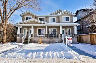 Photo 1: 10205 152 Street in Edmonton: Zone 21 House Half Duplex for sale : MLS®# E4184670
