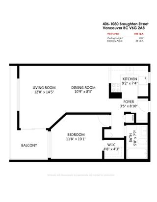 """Photo 21: 406 1080 BROUGHTON Street in Vancouver: West End VW Condo for sale in """"Broughton Terrace"""" (Vancouver West)  : MLS®# R2497773"""