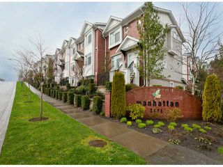 "Photo 1: 6 19551 66TH Avenue in Surrey: Clayton Townhouse for sale in ""Manhattan Skye"" (Cloverdale)  : MLS®# F1307026"