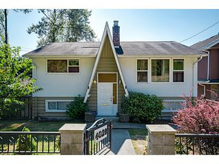 Photo 1: 4028 MARINE Drive in Burnaby: Big Bend House for sale (Burnaby South)  : MLS®# V1082335
