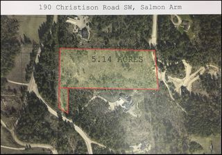 Photo 1: 190 SW Christison Road in Salmon Arm: Gleneden Vacant Land for sale : MLS®# 10118444