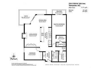 Photo 18: # 210 1720 W 12TH AV in Vancouver: Fairview VW Condo for sale (Vancouver West)  : MLS®# V1101253
