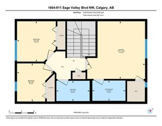 Photo 26: 1604 881 Sage Valley Boulevard NW in Calgary: Sage Hill Row/Townhouse for sale : MLS®# A1032743